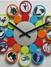 GXS/Fashion Design Rund Bilderrahmen Wanduhr, Hohe Qualität Home Decor mit 12Bilderrahmen