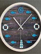 GXS/Rettungsring Seitenruder Tower Stereo Fisch Wanduhr