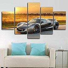 Gxucoa Wohnzimmer Deko 5 Teilige Leinwandbilder