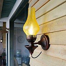 GXY Nostalgische Kreative Antike Wandlampe Des
