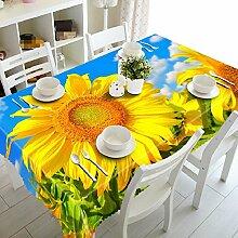 GY&H 3D Küche Esszimmer staubdicht Tischdecke Esstisch, Couchtisch Hausdekoration kann Staubschutz (C2) waschen,H,134cm*183cm(53in*72in)