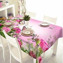 GY&H 3d luxuriöse staubdichte Polyesterfaser Tischdecke Vielzahl von Multi - Size - Leben dekorative Desktop - Staubschutz (A3),B, 228cm*228cm(90in*90in)