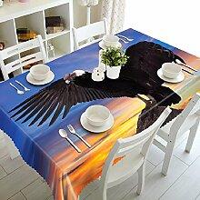 GY&H 3D Polyester Faser verschiedene Größen Küche Tischdecke Dinner Party, Sommer Outdoor Picknick Tischdecken (A2),F,152cm*259cm