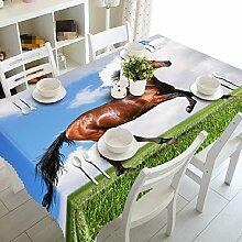 GY&H 3D Polyester Faser verschiedene Größen Küche Tischdecke Dinner Party, Sommer Outdoor Picknick Tischdecken(A3),A, 228cm*396cm