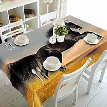 GY&H 3D Polyester Faser verschiedene Größen Küche Tischdecke Dinner Party, Sommer Outdoor Picknick Tischdecken(A3),H,216cm*216cm