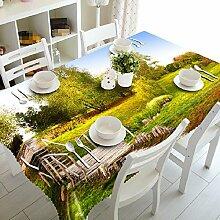 GY&H 3D-Speisesaal Mehrzweck-Tischdecke Multi-Size-Picknick-Leben Dekorative Tischdecke Tischdecken (A1),J,80cm*150cm