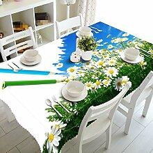 GY&H 3D-Speisesaal Mehrzweck-Tischdecke Multi-Size-Picknick-Leben dekorative Tischplatte Tischtücher (A2),G,134cm*183cm