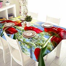 GY&H 3D Staubdicht Bedside Cabinet Tuch Küche Dinner Party, Sommer Outdoor Picknick Tischdecke (A2),I,152cm*259cm(60in*102in)