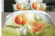 GY&H 3D vier Stücke Sätze dreidimensionale Blumen Schleifen Quilt Bett Lieferungen (Doppel),D3,200X230