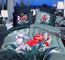 GY&H 3D vier Stücke Sätze dreidimensionale Blumen Schleifen Quilt Bett Lieferungen (Doppel),C3,200X230