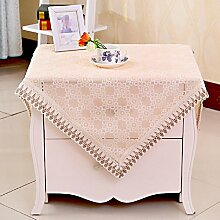GY&H Baumwolle Tischdecke Nachttisch, TV-Schrank, Couchtisch, runde Tischdecke Tuch Home Decoration Multi Handtuch,yellow,102*156cm