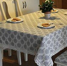 GY&H Die neue Tischdecke aus Baumwolle Esstisch, Kaffeetisch Heimtextilien Tischdecke grau, beige,Beige,60*60cm