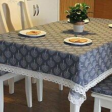 GY&H Die neue Tischdecke aus Baumwolle Esstisch, Kaffeetisch Heimtextilien Tischdecke grau, beige,gray,90*140cm