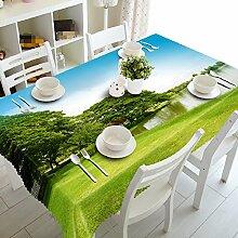 GY&H Elegantes staubdichtes Nachttisch-Abdeckung Tuch 3d Umweltschutz Mehrzweckhausdekoration Tischtücher (A2),A,152cm*228cm