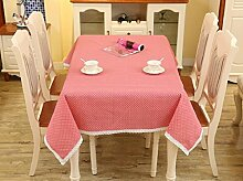 GY&H Europäische Baumwoll-Leinen Tischdecke rechteckiger Couchtisch, runder Tisch überdachter Tuch Mehrzweck-Party-Picknicktisch Tuch Multi-Größe,A,140*180cm