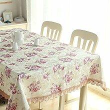 GY&H Europäische High-End-Luxus-Tischdecke Spitze rechteckigen Wohnzimmer Hause Couchtisch TV-Schrank Abdeckung Tuch,B,70*70CM