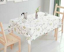 GY&H Europäische Stil Tisch Tuch Pastoral Aktivität gedruckt Couchtisch Tuch kann wohnen Multi-Size-Heimtextilien Tischdecken,A,140*220CM