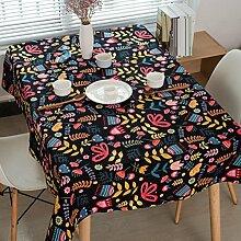 GY&H Europäischen Stil Tischdecken Retro Tischdecke Druck Hotel Restaurant Staubdicht Antifouling Heimtextilien Tischdecken,A,140*250CM
