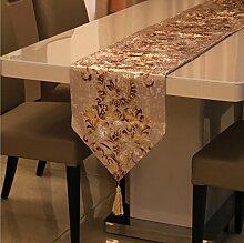 GY&H Europäischen Stil Tischläufer gestickten Dresser Schal für Essen, Hochzeit, Party, Geschenk Multi-Größe,E,32*160cm
