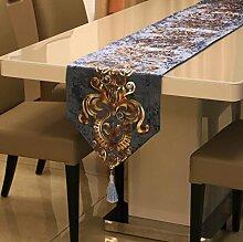 GY&H Europäischen Stil Tischläufer gestickten Dresser Schal für Essen, Hochzeit, Party, Geschenk Multi-Größe,C,32*160cm