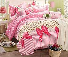 GY&H Fidelity Luxus hochwertiges Textilgewebe vierteiliges Quastenpaket Art und Weise hochwertiges Bettwäsche (Steppdeckeabdeckung × 1PC, Bett-Blatt × 1PC, Kissenbezug × 2PCS),A6,2 meters bed