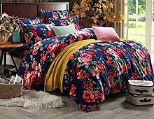 GY&H Fidelity Luxus hochwertiges Textilgewebe vierteiliges Quastenpaket Art und Weise hochwertiges Bettwäsche (Steppdeckeabdeckung × 1PC, Bett-Blatt × 1PC, Kissenbezug × 2PCS),B3,1.5-1.8 m bed