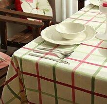 GY&H Hochwertige Baumwollstaub / Antifouling rechteckige Tischdecke Tisch Mehrzweck Haushaltsgegenstände,green,60*60cm