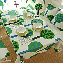 GY&H Home Tischdecke Tischmatten rechteckige Tischdecke Tisch, TV-Schrank, Wohnzimmer, Couchtisch, Nachttisch Mehrzweck-Tischdecke,green,90*140cm