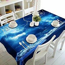 GY&H Kann 3D quadratischen Polyester-Faser Staub Tisch Tuch, Haus Dekoration Druck und Färben Tischtücher (A2),K,152cm*228cm