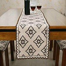 GY&H Klassische nationale Windhand - gewebte Tabelle Läufer Couchtisch, Bettdekoration Baumwolle Läufer Hochzeitsfeier Tischdekorationen,B,30*200cm