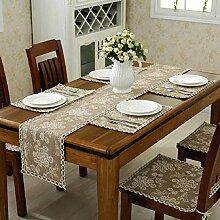 GY&H Klassische nationale Windhand - gewebte Tabelle Läufer Couchtisch, Bettdekoration Baumwolle Läufer Hochzeitsfeier Tischdekorationen,E,30*220cm