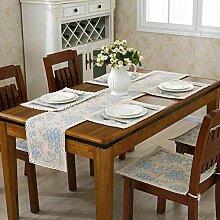 GY&H Klassische nationale Windhand - gewebte Tabelle Läufer Couchtisch, Bettdekoration Baumwolle Läufer Hochzeitsfeier Tischdekorationen,D,30*110CM