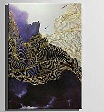"GY&H Kunst-Abstraktes Muster 100% Handgemalte Abstraktion Malerei Ölgemälde Frameless Malerei Wohnzimmer Restaurant Home Decorations Artwork,1pc,15.7"" *23.6"
