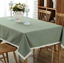 GY&H Luxus neue Baumwolle Tisch Tischdecke Couchtisch / TV Schrank Küche Esszimmer Staubdichte Tischdecke Multi-Size,gray,140*140cm