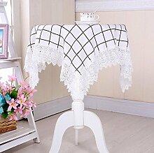 GY&H Mehrzweck Handtuch Couchtisch Tuch Nachttisch Schrank Staub Abdeckung Spitze Home Dekoration Tisch Tischdecke,white,105*105cm
