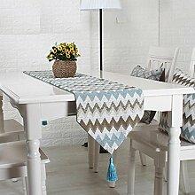 GY&H Mode Tischläufer Europäische Couchtisch Fahne Hochzeitsfest Tischdekoration Läufer,A,32*160cm