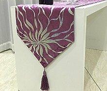 GY&H Moderne einfache Tisch Couchtisch Staub Tisch Läufer Hochzeit, Party, Geschenk Mehrzweck Läufer,red,32*210cm