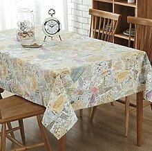 GY&H Neue Leinen Tischdecke TV-Schrank / Couchtisch / Esstisch Tuch staubdicht Heimtextilien Tischdecken,Rice color,140*220cm