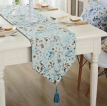 GY&H Polyester Faser Garten Jacquard Tisch Tischläufer Mode Couchtisch Fahne TV Schrank Hotel Haus Dekoration,gray,32*200cm