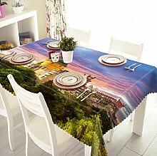 GY&H Polyesterfaser staubdicht / Antifouling Nachttisch Tuch 3d Tischdecke Umwelt Haus Dekoration Abdeckung Tuch (B2),B, 152cm*228cm(60in*70in)