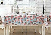 GY&H Rechteck Verschiedene Größen Baumwoll-Leinen Couchtisch, runder Tisch, Esstisch Rechteckige Tischdecke Mehrzweck-Picknick-Tischdecke,S,90*90CM