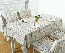 GY&H Rechteckige Baumwolle und Leinen Tischdecke Hause quadratischen Stoff TV-Schrank Couchtisch Tuch Mehrzweck-Party Camping Picknick Tischdecke,light brown,60*60cm