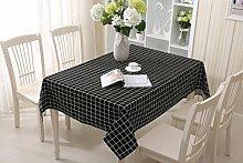GY&H Spitze Baumwolle und Leinen rechteckigen Couchtisch, Esstisch Heimtextilien Outdoor Picknick Tischdecke Multi-Size,black,90X90CM