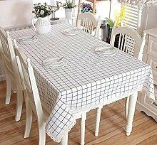 GY&H Spitze Baumwolle und Leinen rechteckigen Couchtisch, Esstisch Heimtextilien Outdoor Picknick Tischdecke Multi-Size,white Lace,140x250cm