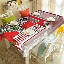 GY&H Staubdicht elegante 3d Tischdecken Umweltschutz Multi-Size Dinner Party, Sommer Outdoor Picknick Staub Abdeckung(A2),A,178cm*274cm(70in*108in)