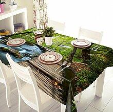 GY&H Staubdicht elegante 3d Tischdecken Umweltschutz Multi-Size Dinner Party, Sommer Outdoor Picknick Staub Abdeckung(A1),F,40cm*40cm(16in*16in)