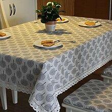 GY&H Thick hochwertige Baumwollspitze Tischwäsche Home Decoration Couchtisch Tischdecke decke~~POS=HEADCOMP verschiedene Größen,Beige,90*140cm