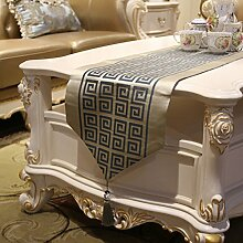 GY&H Tischläufer Couchtisch Esstisch Tuch Europäische klassische Bett Flagge glatte Stoff Party Tischläufer,B,32*210cm