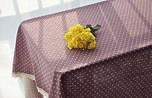 GY&H Verschiedene Größen von Leinen elegante Tischtuch Druck Mehrzweck Heimtextilien Tischdecken,purple, 140*250cm