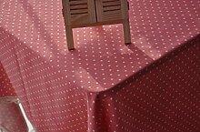 GY&H Verschiedene Größen von Leinen elegante Tischtuch Druck Mehrzweck Heimtextilien Tischdecken,red,140*200cm